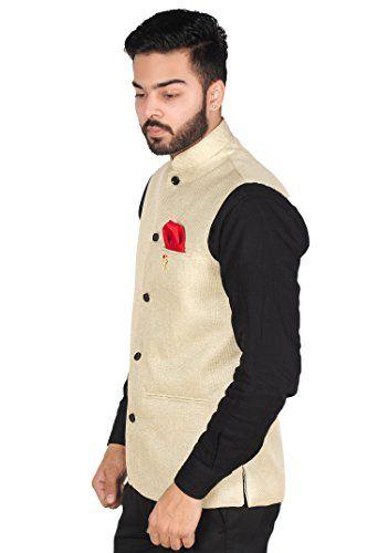 size 40 ed663 e06fd OORA Hartmann Men's Cotton Blend Woven Nehru Jacket | Shirts ...