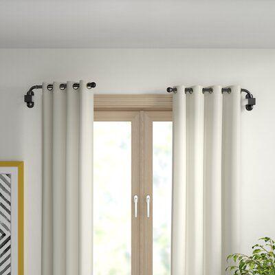 Zipcode Design Verdell Curtain Swing Arm Finish Black Size 24