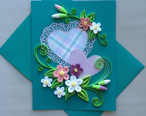 Quilled Card for any Ocassion | Etsy