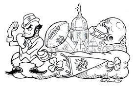Image Result For University Of Notre Dame Kids Printables Fighting Irish Logo Football Coloring Pages Coloring Pages