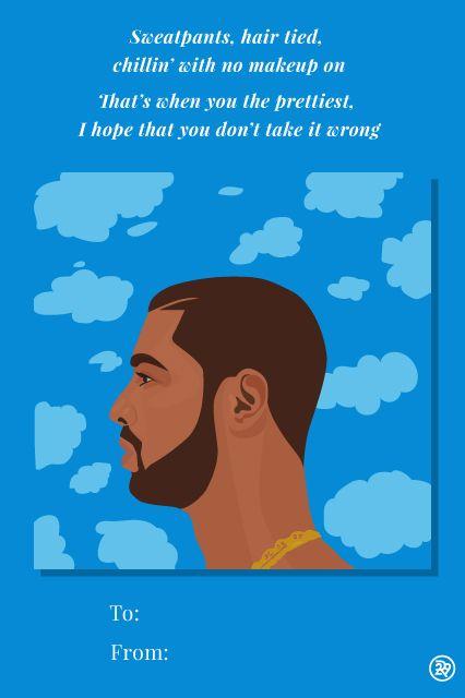 11 Valentineu0027s Cards, Set To Drake Lyrics | Drake Lyrics, Romantic Song  Lyrics And Cards