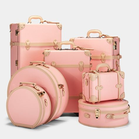 The Correspondent - Pink Carryon – Steamline Luggage Cute Luggage, Luggage Case, Vintage Luggage, Carry On Luggage, Luggage Sets, Vintage Suitcases, Pink Luggage, Luggage Brands, Luxury Luggage