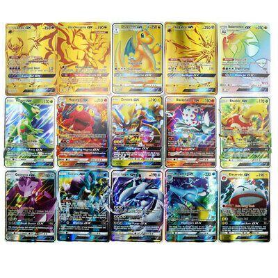 200PCS Pokemon Card 170GX+10Trainer+20Energy Holo Flash Trading Cards Game Kid