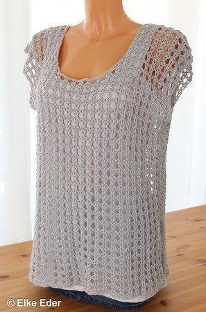 Netzshirt Sommertop Tunika Mayla Hakelanleitung Hakeln Sie Blusen Strand Tunika Hakeln Netzshirt Hakeln Top Tops Clothes Crochet Top