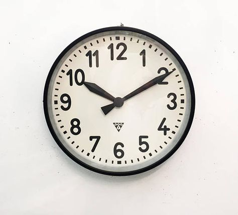 Large Industrial Factory Wall Clock By Pragatron Clock Wall Clock Steel Paint