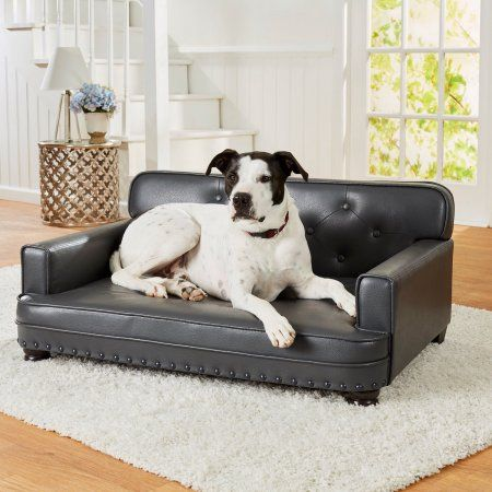 Enchanted Home Pet Library Sofa Dog Bed Large 30 X40 X18 Gray Walmart Com Pet Sofa Bed Dog Sofa Bed Pet Couches
