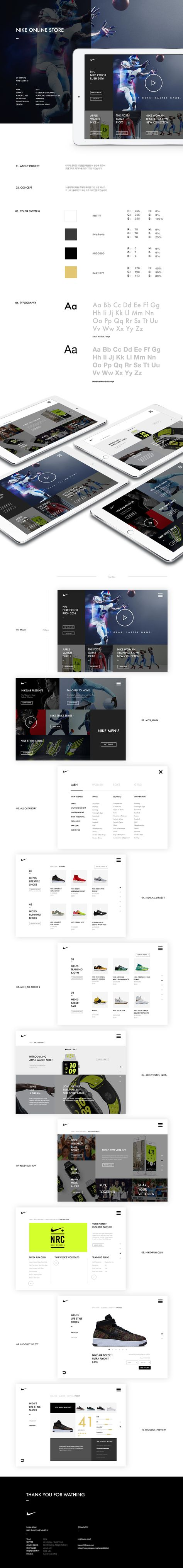 best website 2c327 a20b4  UI Design  Nike Online store Tablet on Behance