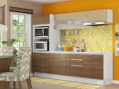 Cozinha Linda C 2 50 Largura 2 Opcoes De Cores Agora Sim Avisa As Amigas Cozinha Compacta Madesa Smart G200730909 Com Ba Cozinha Compacta