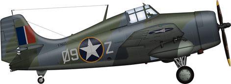 グラマン F4F ワイルドキャット 塗装図