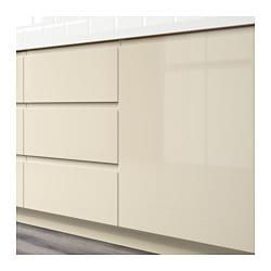 Ikea Voxtorp High Gloss Light Beige Drawer Front Beige Kitchen