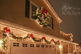 Image Result For Garland Around Garage Door Exterior Christmas