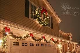 Image Result For Garland Around Garage Door Exterior Christmas