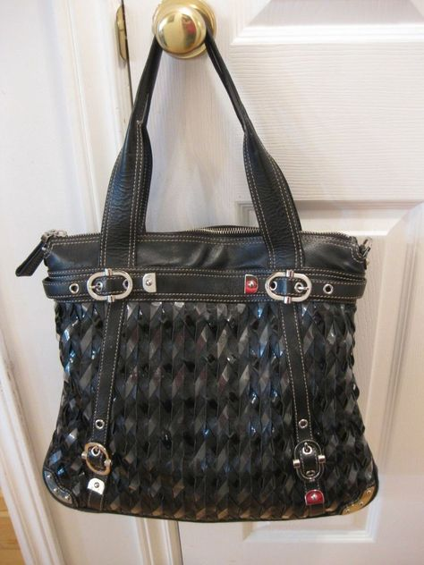 1a304bd5e1 Large Black Woven Leather Rafe New York Satchel Handbag Purse  fashion   clothing  shoes  accessories  womensbagshandbags (ebay link)