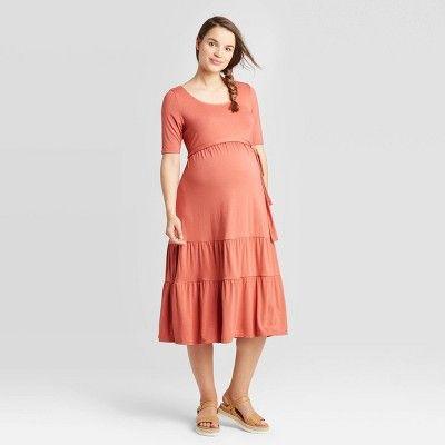 LAUREN Maternity Dresses  Nursing Dress  Breastfeeding Dresses  NEW  Mocha Tunic Maternity Clothing Pregnancy