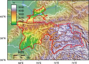 Worksheet. Topographic map of Tajikistan  Wikipedia  4 Tajikistan Central