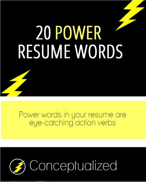 well this will be helpful this weekend while writing my resume - power words for a resume