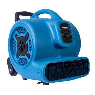 1 Hp 3600 Cfm 3 Speed Air Mover Carpet Dryer Floor Fan Blower With Telescopic Handle And Wheels Floor Fan Blower Fans Ionizer