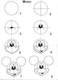 Image Result For Dessin Facile A Reproduire Par Etape Disney Disney Drawings Mouse Drawing Easy Disney Drawings