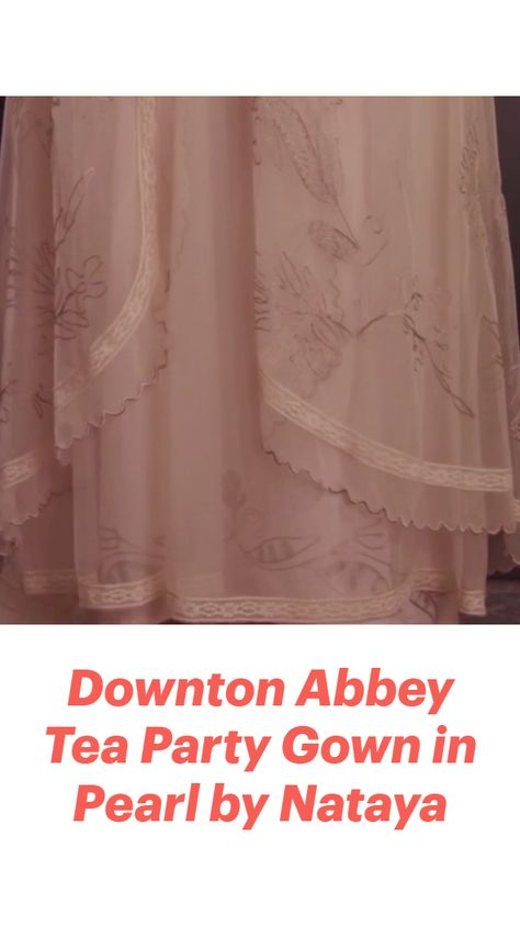 Downton Abbey Tea Party Gown in Pearl by Nataya