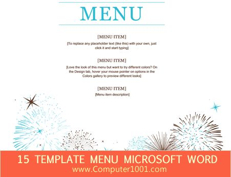 Download 15 Template Menu Makanan Microsoft Word Design - microsoft word menu templates
