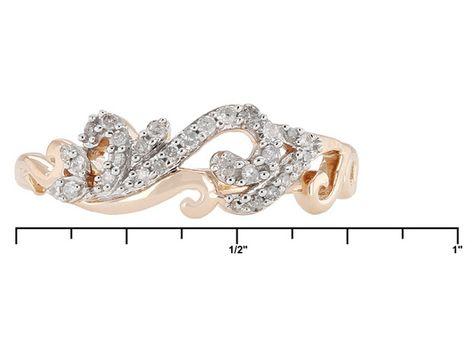 18ctw Round White Diamond 10k Rose Gold Filigree Ring Filigree Ring Gold Jtv Jewelry Jewelry Online Shopping