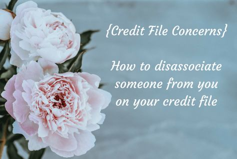 {Credit File Concerns} How to disassociate someone from you on your credit file.... | The Diary of a Frugal Family