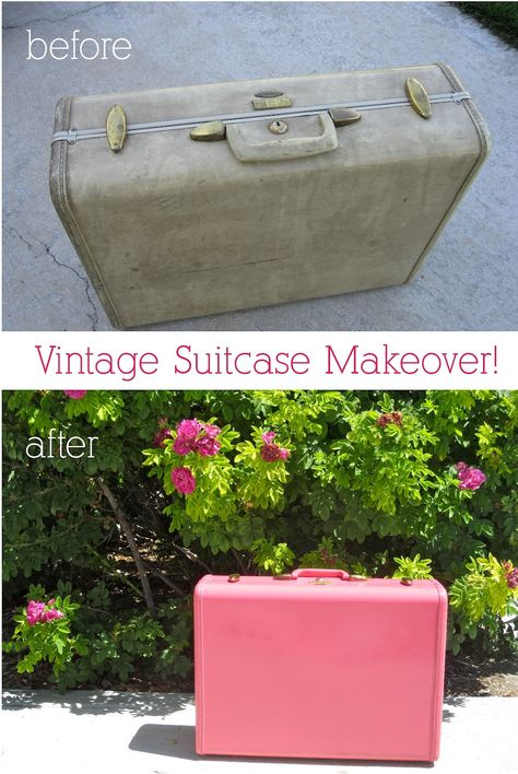 Now i know what i am going to do with Jos's suitcase. Wonder if the spray paint will get rid of the musty odor