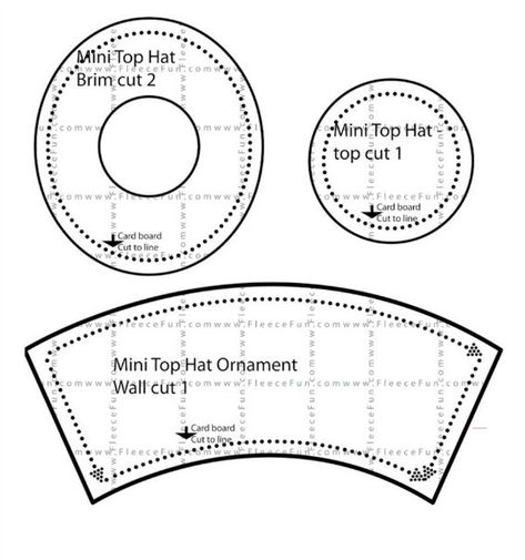 How to sew a hat cylinder with their own hands Hat Crafts, Paper Crafts, Christmas Hat, Christmas Crafts, Mad Hatter Top Hat, Hat Template, Templates, Snowman Hat, Felt Snowman