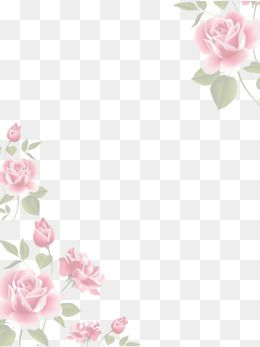 Watercolor Flowers Border Flower Png Images Pink Watercolor Flower Flower Border Png