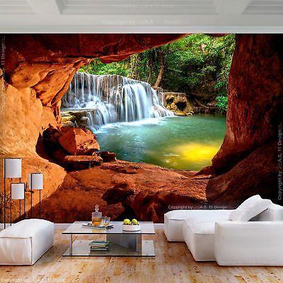 Fototapete Wasserfall Landschaft 3d Effekt Tapete Wandbilder Xxl Wohnzimmer 61 Tapeten Wandbilder Fototapete Wandtapete