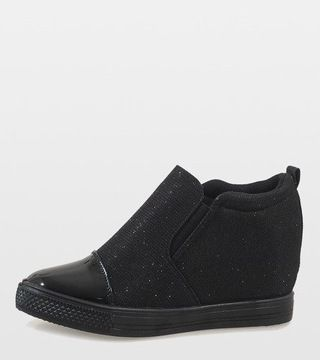 Czarne Sneakersy Koturny Trampki Botki Dd410 1 39 7820953407 Oficjalne Archiwum Allegro Slip On Sneaker Shoes Sneakers