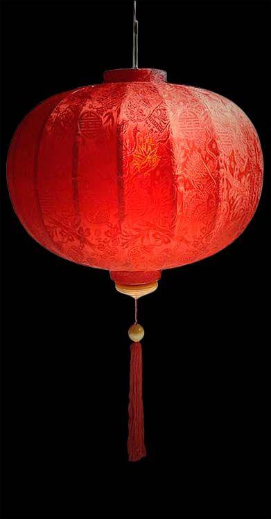 chinese lantern red silk