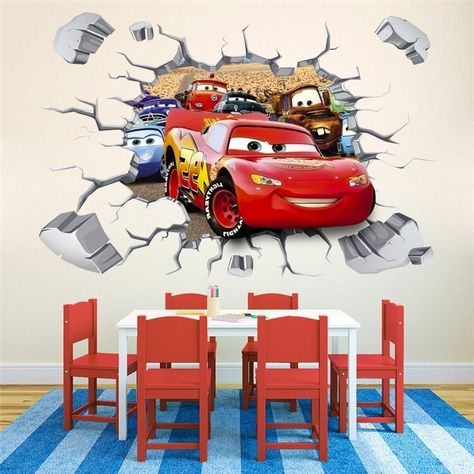 Cars Movie Logo PERSONALIZED NAME Decal WALL STICKER Decor Mural Disney WC212