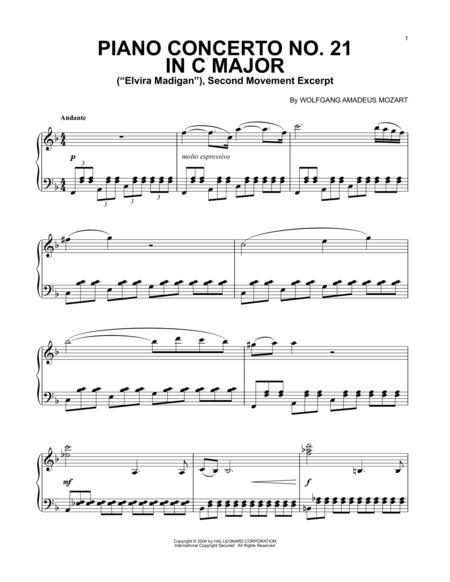Download Piano Concerto No 21 In C Major Elvira Madigan