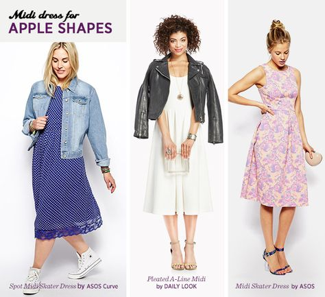 37085f9c6 Midi Skirt for Your Body Type: Apple Shapes