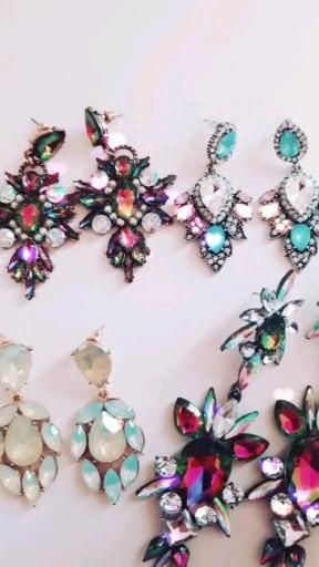 Aphrodite Statement Earrings Click here for more beautiful earrings 😍 #jewellery #jewelry #diamondearrings #party #style #fashion #women #gift #christmas #earrings #beautiful #video #crystal #video #tiktok #sieraden #oorbellen #sieraad #cadeau