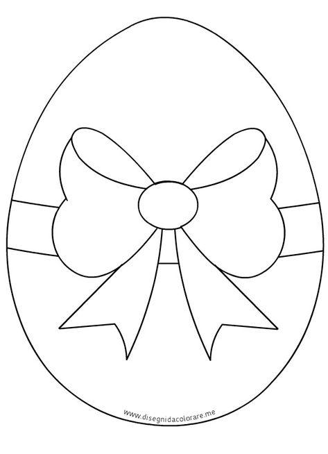 Uovo Di Pasqua Con Fiocco Disegni Da Colorare Pascua