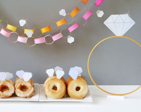 diamond bridal shower with great DIY ideas