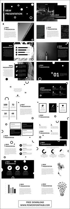B&W Free PowerPoint Template - Powerpoint Hub