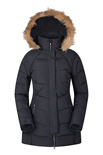 Mountain Warehouse Isla II Womens Down Jacket Fur Hoodie