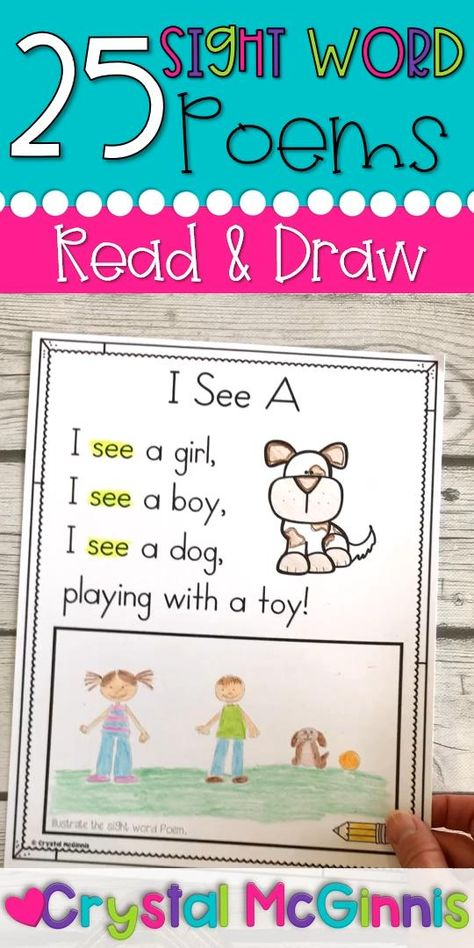 This can be used as a center activity. Students can practice reading sight words and then draw a picture illustrating the sentence.