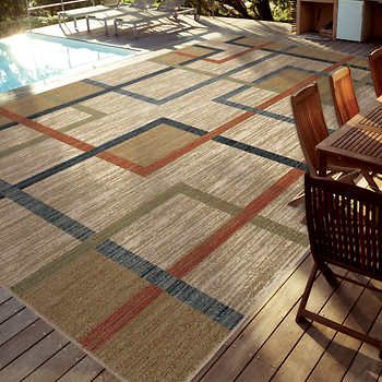 Easy Living Indoor Outdoor Rug 7 10 X 12 Kaito Multi Outdoor Rugs Indoor Outdoor Rugs Rugs
