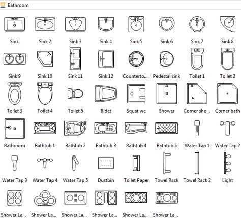 Bathroom Symbols Floor Plan Symbols Architecture Symbols Floor Plan Design
