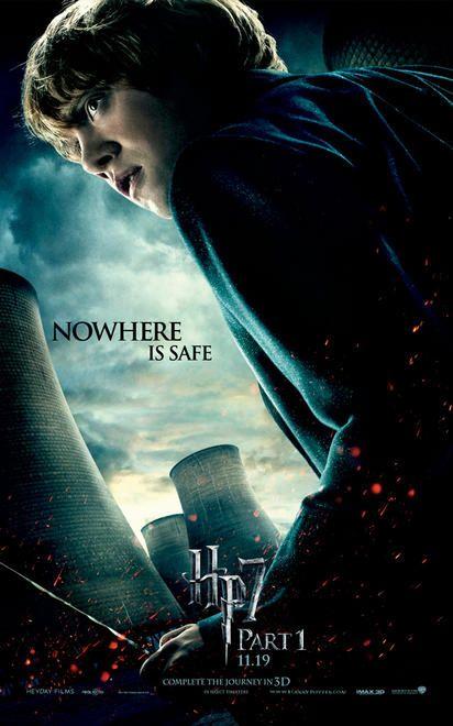 Harry Potter Y Las Reliquias De La Muerte Parte 1 Rupert Grint Londres Harry Potter Afiche De Harry Potter Películas De Harry Potter