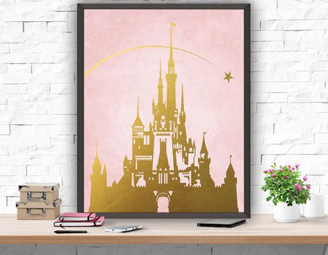 Hey, I found this really awesome Etsy listing at https://www.etsy.com/listing/218381103/disney-princess-castle-nursery-print