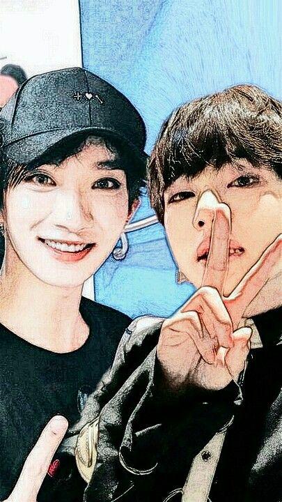 Photoshop Idols Idols Taehyung And Joshua Dengan Gambar