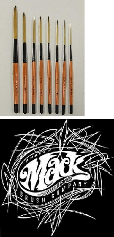 Drag/'n Fly Ted Turner Signature Series Pinstriping Brush Any Size OR Set of 8