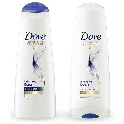 Dove Nutritive Solutions Strengthening Shampoo And Conditioner For Damaged Hair Intensive Repair 12 Fl Oz 2ct Shampoo And Conditioner Dove Shampoo And Conditioner Repair Shampoo