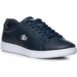 Lacoste Sneaker Schuh Herren Glattleder Blau Lacoste In 2020 Lacoste Sneakers Leder Und Lacoste