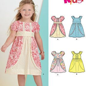 9a542fb3324c Pattern 6443 Child's Dress with Fabric and Trim Variations